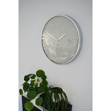 Load image into Gallery viewer, NeXtime - Wall clock- Ø 40 cm – Metal – Dome shaped glass- Grey – 'Glamour'