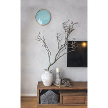 Load image into Gallery viewer, NeXtime - Wall clock- Ø 40 cm – Metal – Dome shaped glass- Turquoise – 'Glamour'