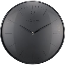 Load image into Gallery viewer, NeXtime - Wall clock- Ø 40 cm – Metal – Dome shaped glass- Black – 'Glamour'