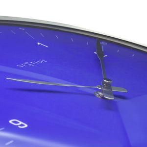 NeXtime - Wall clock- Ø 33 cm – Metal – Dome Shaped Glass- Blue – '60 Minutes'