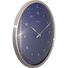 Load image into Gallery viewer, NeXtime - Wall clock- Ø 33 cm – Metal – Dome Shaped Glass- Blue – '60 Minutes'