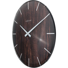 Load image into Gallery viewer, NeXtime- Wall clock - Ø 35 cm - Dome Glass - Brown - 'Edge Wood Dome'