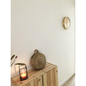 NeXtime- Wall clock - Ø 34 cm - Glass / Metal - Fruity Manderin - 'Essential Gold'