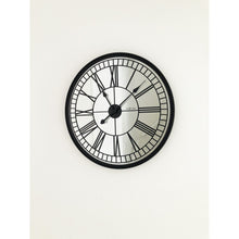 Load image into Gallery viewer, NeXtime- Wall clock - Ø 56 cm - Mirror - Black - 'Cleopatra mirror'