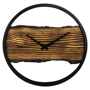 Wooden Clock - Silent - 30 cm - Wood/ Metal - Forest - NeXtime