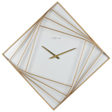 Load image into Gallery viewer, Large Square Wall Clock - 85x85cm -  Metal - Gold/White - NeXtime - Turning Square