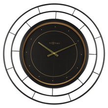 "Load image into Gallery viewer, Large Wall clock - 70cm - Silent - Black - Metal - ""Fancy"" -NeXtime"
