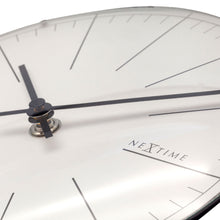 Load image into Gallery viewer, NeXtime - Wall clock/ Table clock- Ø 20 cm- Glass – Dome Shaped Glass- White – 'Big Stripe Mini Dome'