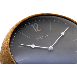 NeXtime - Wall clock - Ø 30 cm - Cork / Glass - Grey - 'Cork'