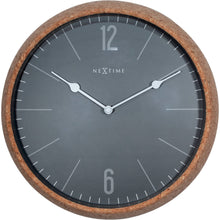 Load image into Gallery viewer, NeXtime - Wall clock - Ø 30 cm - Cork / Glass - Grey - 'Cork'