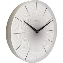 Load image into Gallery viewer, NeXtime - Wall clock - Ø 40 cm - Metal - White - '2 Seconds'