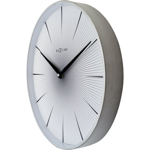 NeXtime - Wall clock - Ø 40 cm - Metal - White - '2 Seconds'
