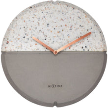 Load image into Gallery viewer, NeXtime - Wall clock - Ø 32 cm - Concrete / Terrazzo - Grey - 'Conrazzo'
