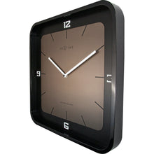 Load image into Gallery viewer, NeXtime - Wall clock - 40 x 40 x 4 cm - Wood - Black - 'Square Wall'
