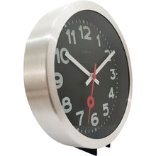 Load image into Gallery viewer, NeXtime - Wall clock/Table clock - Ø 19 cm - Aluminum – Black - ' Station Numbers'