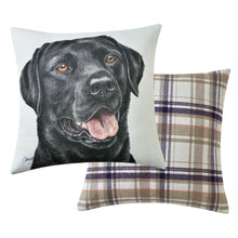 Load image into Gallery viewer, Black Labrador Cushion