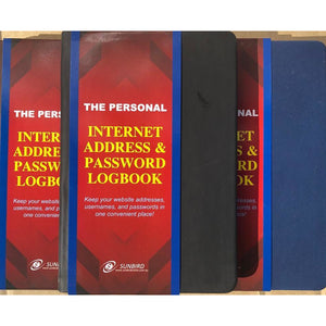 Internet Password Log Book A6