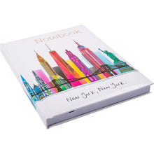 Load image into Gallery viewer, New York Skyline Scene Notebook A5