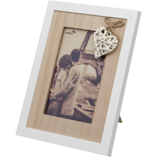 Woven Heart Wooden Photo Frame 6 x 8-Inch