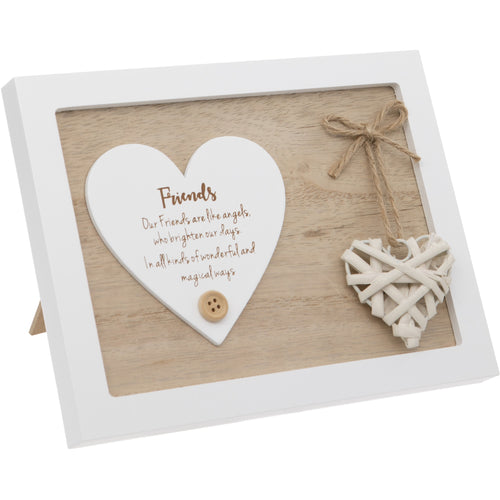 Woven Heart Sentiment Plaque - Friends