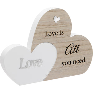 Love Double Interlocking Hearts Plaque