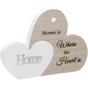 Home Double Interlocking Hearts Plaque