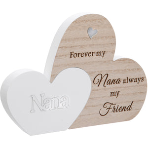 Nana Double Interlocking Hearts Plaque