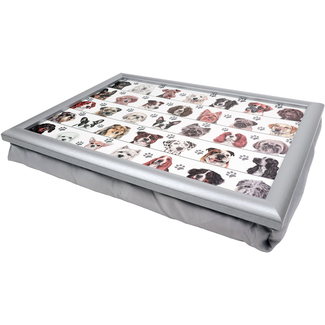 Dogs in Line Lap Tray