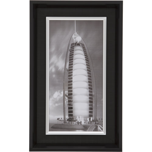Black Rectangular Thick Edge Wall Mountable Photo Frame - Burj Al Arab