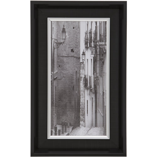 Black Rectangular Thick Edge Wall Mountable Photo Frame - Village Side Street