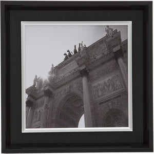 Black Square Thick Edge Wall Mountable Photo Frame - Arc De Triomphe