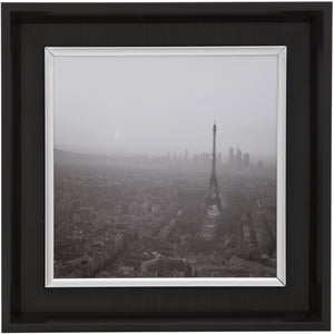 Black Square Thick Edge Wall Mountable Photo Frame - Eiffel Tower