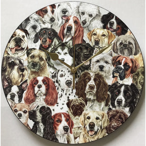 Dog Montage Wall Clock