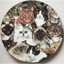 Load image into Gallery viewer, Cat Montage Wall Clock