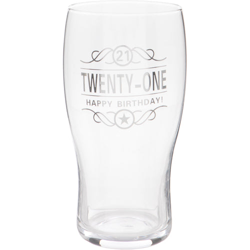 21st Birthday Beer Glass