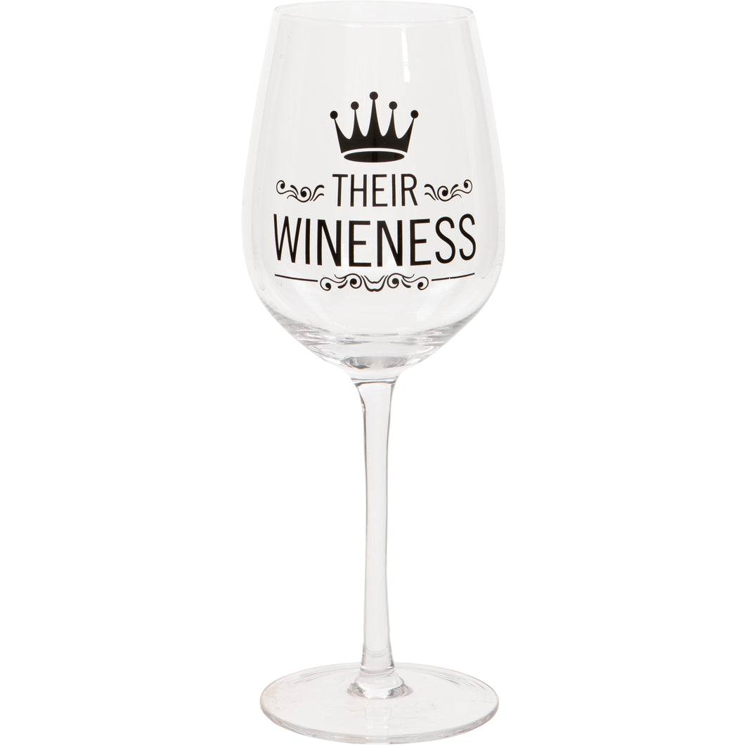 Their Wineness Wine Glass