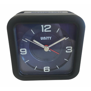Square Beep Alarm Clock in Blue and Black