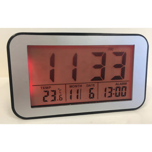 LCD Alarm Clock in Mat Black