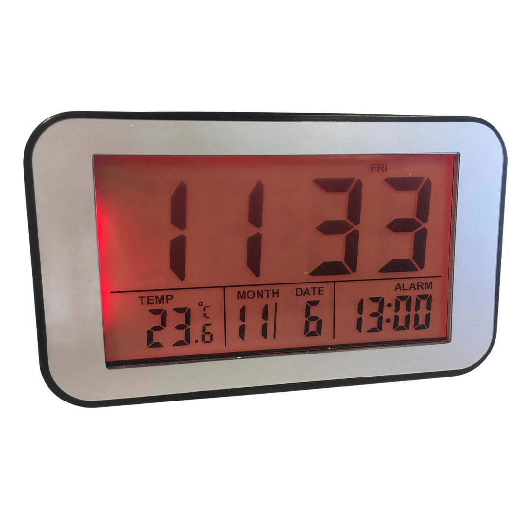 LCD Alarm Clock in Black