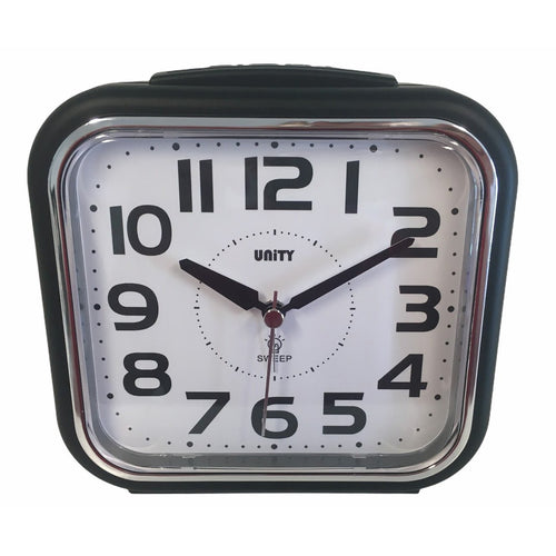 Large Bold Alarm Clock in Black