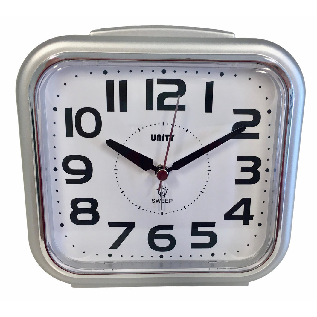 Large Bold Alarm Clock in Silver