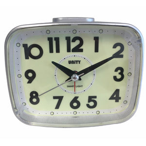 Super Luminous Alarm Clock in White