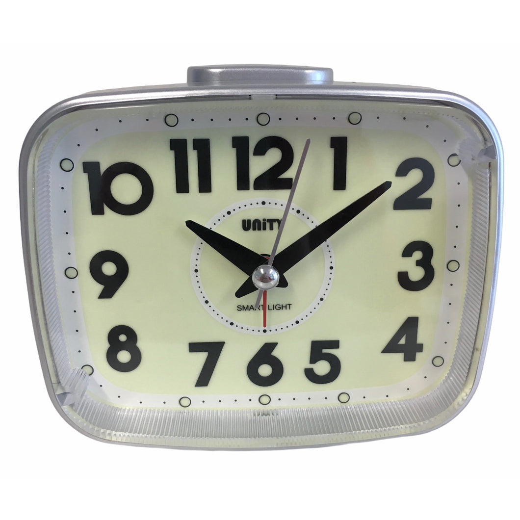 Super Luminous Alarm Clock in Silver