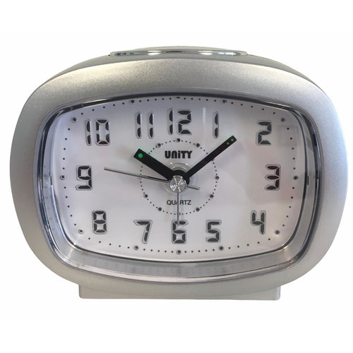 Beep Alarm Clock in Silver
