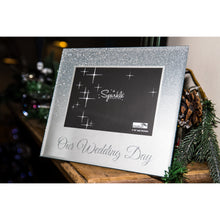 Load image into Gallery viewer, Our Wedding Day Mirrored Silver Glitter 6 x 4 Inch Photo Frame
