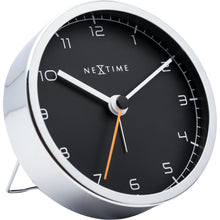 Load image into Gallery viewer, NeXtime - Alarm clock - 9 x 9 x 7.5 cm - Metal - White - 'Company Alarm'