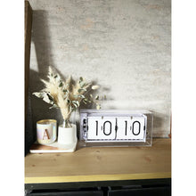 Load image into Gallery viewer, NeXtime - Table clock – Ø 36 cm - Acrylic – Flip Clock- Transparent – 'Big Flip Clear'