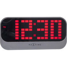 Load image into Gallery viewer, NeXtime - Alarm clock – Ø 17.5 cm - ABS – Red – 'Loud Alarm'