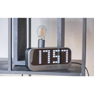 NeXtime - Alarm clock – Ø 17.5 cm - ABS – Black – 'Loud Alarm'