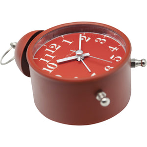 NeXtime - Alarm clock – Ø 16 cm - Metal – Red – Loud Alarm- 'Single Bell'